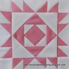 "Moore About Nancy: The Original 6"" quilt block pattern by Nancy Cabot at Moore About Nancy blog"