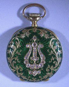 Bogoff Antique Pocket Watches Patek Philippe Enamel and Diamond - Bogoff Antique Pocket Watch # 6584