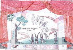 Stage Design for The Rake's Progress : Works   David Hockney