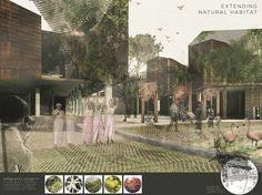 """12 projetos vencem o Holcim Awards África e Oriente Médio,Terceiro Lugar """"Next Generation"""": Machinarium: Catálise urbana regenerativa e produção têxtil. Cortesia de Holcim Foundation"""