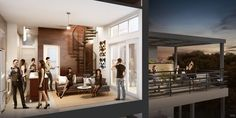Renderings: Morningside's swanky loft-style rentals to debut this month - Curbed Atlantaclockmenumore-arrow : With just 21 units, Phase II of Modera by Mill Creek-Morningside will promote patio living