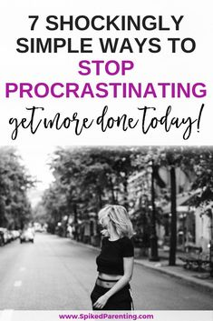 Catch the procrastination bug? Check out these 7 incredibly simple ways to stop procrastinating and start getting more done today! Time Management Techniques, Time Management Tips, Routine, Happy May, How To Stop Procrastinating, Negative Emotions, Motivation, Getting Things Done, Simple Way