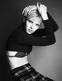 "Sasha Luss in ""Short & Easy"" by Iango + Luigi for Vogue Germany, December 2014"