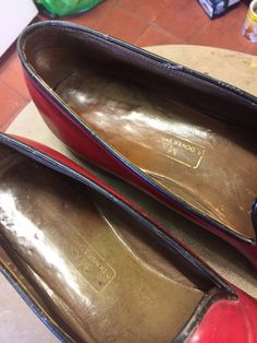 Maxwell Of Dover Street Vintage Mules/Slip on shoes, size 7 1/2 UK Oxblood   eBay