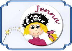 Button Piratenmädchen von Jasuki auf DaWanda.com