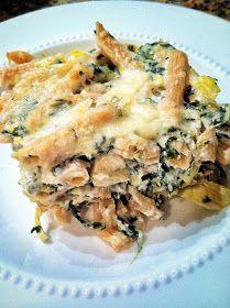 the rose record: wine night: spinach artichoke pasta bake
