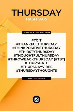 Ready for this fabulous Thursday? Awesome, let's get your next social media post ready to go too! Expand your reach, gain exposure, Social Media Plattformen, Most Popular Social Media, Social Media Marketing, Content Marketing, Tips Instagram, Instagram Marketing Tips, Hash Tags, List Of Hashtags, Socialism