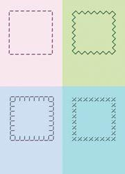 Cuttlebug 2X2.75 Embossing Folder Set Stitched Squares