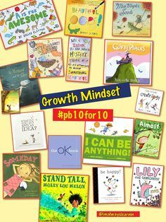 Growth Mindset books to use as a mentor text in the classroom. Growth Mindset Book, Growth Mindset Activities, Social Emotional Learning, Social Skills, Habits Of Mind, 7 Habits, Visible Learning, Fixed Mindset, Responsive Classroom