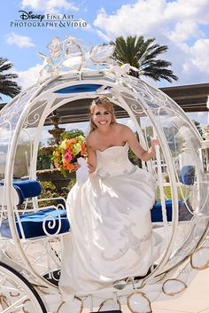 Arrive to your Disney's Fairy Tale Wedding in royal fashion with Cinderella's Coach