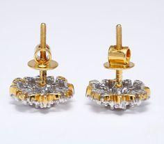 Puces d'oreilles en or blanc et diamants - Bijoux et montres - Plazzart
