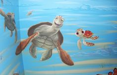 finding nemo nursery themes...wish we could put this on her walls!