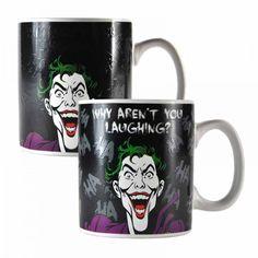 Joker Laughing Heat Change Mug Ceramic Coffee Tea Cup Dc Comics Batman Gotham Soup Mugs, Tea Mugs, Insulated Mugs, Cappuccino Coffee, Reusable Coffee Cup, Batman Birthday, Camping Coffee, China Mugs, Gotham City