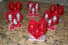 Directions for base for QBees Hershey Kiss Heart