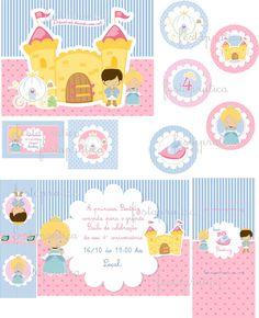 kit digital princesas | Festa Pratica | 35AB64 - Elo7