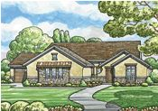 Gunnison 50016 - French Country Home Plan at Design Basics