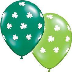 """5-10 pc 11"""" Shamrocks Around Latex Balloon Happy Birthday Party St. Patricks Day"""