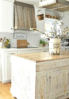 Kitchen shabby chic rustic french country decor idea Thinking about doing this in my kitchen