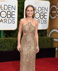 Brie Larson in a Calvin Klein Collection dress and Chopard  Jewelry Golden Globes 2016: The Best Dressed Celebrities on the Red Carpet