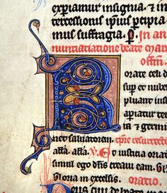 A beautiful initial letter R in a missal of the 13th or 14th century. Finnish.
