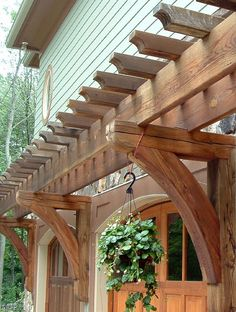 The wooden pergola is a good solution to add beauty to your garden. If you are not ready to spend thousands of dollars for building a cozy pergola then you may devise new strategies of trying out something different so that you can re Diy Pergola, Building A Pergola, Deck With Pergola, Wooden Pergola, Pergola Ideas, Cheap Pergola, Building Plans, Porch Ideas, Greenhouse Ideas