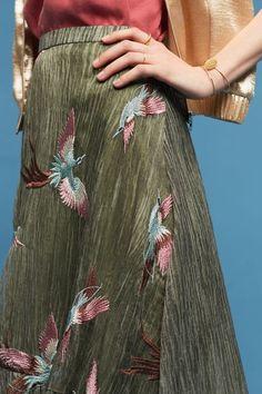 Oiseau Embroidered Skirt