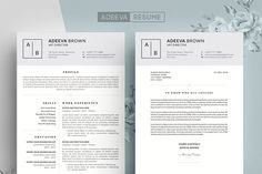 Nice Professional Resume Template Jones Creativework  Fonts