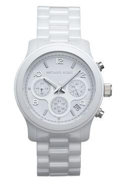 Michael Kors Ceramic Chronograph Watch. Straight baller.