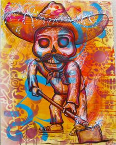 """Mexico 2012: Artist Joel Bergner spent time in Mexico creating murals with marginalized communities, work on canvas, and even painting the """"Paz- Paz Bus."""" He collaborated with the Mexican organization IRRI, the International Institute of Renewable Resources."""