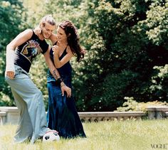 The Beckhams, photographed for Vogue in 2003.