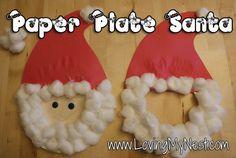 Paper Plate Santa Face