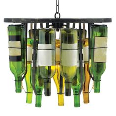 Wine Bottle Design Pendant Light