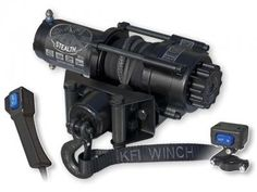 KFI Products ATV 3500 Stealth Winch Now Available at PowerSports Place Get un-stuck from virtually any situation. Why It's Cool: A super-durable winch in a compact package specifically tailored to ATV riders. KFI's 3500 Stealth Winch features a 3,500 lb. pull rating and 50 feet of synthetic winch line. It includes a roller fairlead and has a handlebar-mounted switch plus a 14 foot corded remote—allowing you to winch either mounted or dismounted from your ATV.