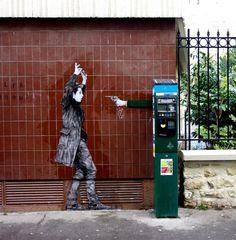 "Levalet, ""Hold Up"", Paris, 2016"