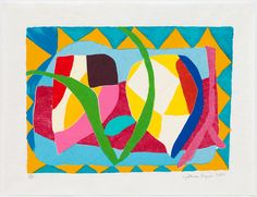 RA Summer Exhibition 2016 work 632: RHODIOLA by Gillian Ayres RA, £3,480.00. #RASummer