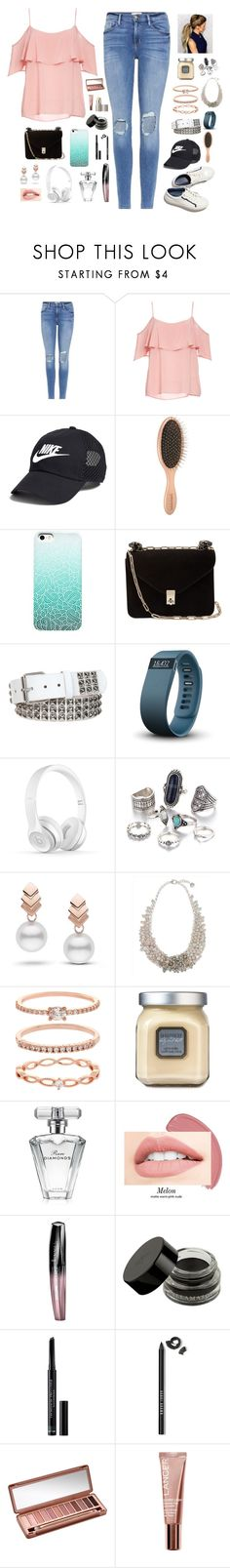 """""""Spring Ruffles"""" by countless-possibilities ❤ liked on Polyvore featuring Frame, BB Dakota, NIKE, Valentino, Fitbit, Escalier, Jaeger, Accessorize, Laura Mercier and Avon"""