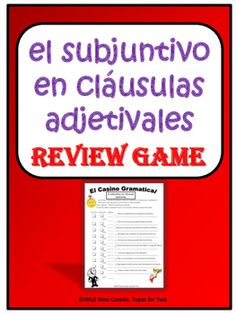 How about practicing the subjunctive while having fun?This is a perfect game to review the subjunctive in adjective clauses in Spanish.