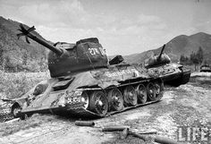 T-34-85s destroyed by M26 in Korea.