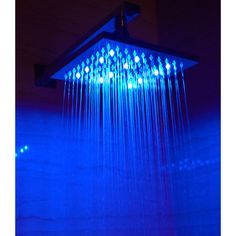 Found it at Wayfair - Square LED Rain Shower Head. Crazy!!