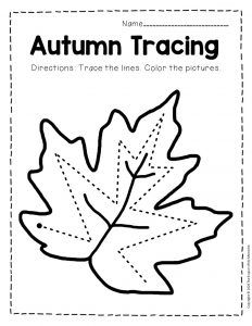 Free Printable Tracing Fall Preschool Worksheets
