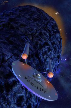 Star Trek: Enterprise by David Metlesits, Doomsday Machine and Constellation by Raul Mamoru. Star Trek Enterprise, Nave Enterprise, Uss Enterprise Ncc 1701, Star Trek Starships, Star Trek Rpg, Star Trek Original, Akira, Vaisseau Star Trek, Star Trek Wallpaper