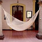 Novica Natural Comfort Outdoor Garden Patio Pool Off White Cotton with Nylon Handmade Knotted Rope Style Nylon Single Hammock (Mexico), Beige Off-White Patio Furniture Rope Hammock, Hammock Swing, Hammock Ideas, Indoor Hammock, Double Hammock, Mayan Hammock, New Energy, Classic White, Hammocks