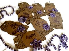 Gift Tags/Mad Hatter Tea Party/Set of 8/Fancy by valburgesscollage,