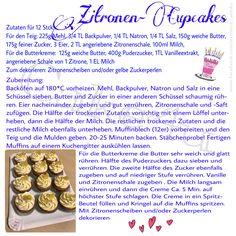 Rezept für Zitronen Cupcakes