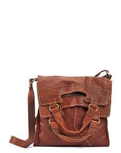 ☯☮ॐ American Hippie Bohemian Style ~ Boho Leather Messenger Bag!