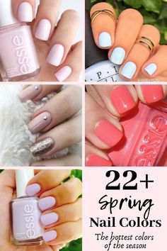 22 Spring Nails and Colors For 2019 Shellac Nail Colors, Toe Nail Color, Gel Nails, Stiletto Nails, Acrylic Nails, Spring Nail Colors, Nail Designs Spring, Nail Art Designs, Nails Design