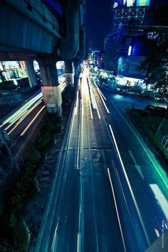 City at night, Bangkok, Thailand, 2011, photograph by Anton Uralev.