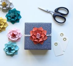 Looking for a unique way to package up your gifts?  Use paper flowers to make things really pop and wow your loved ones!