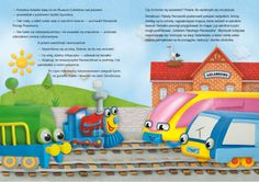Ilustracja bajki personalizowanej. http://szukamprezentu.pl/ksiazka-pekaty-parowozik-wyrusza-w-podroz.html