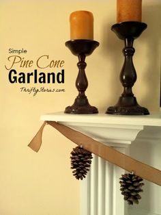 Homemade Pine Cone Garland